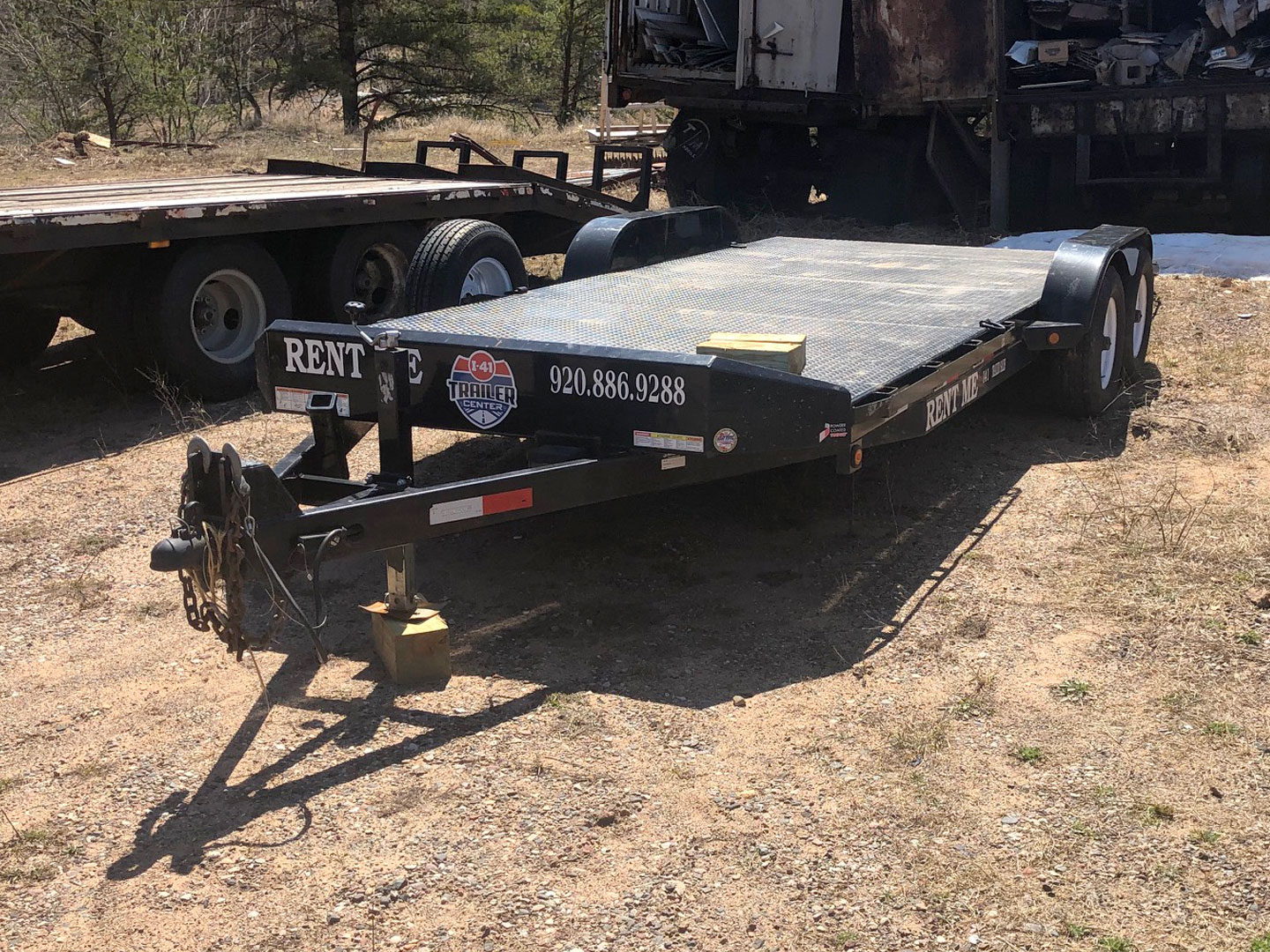 Car Trailer with Beaver Tail